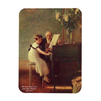 The First Piano Lesson by Muenier Rectangular Photo Magnet