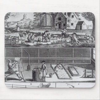 The First Plate of the Woollen Manufacture Mouse Pad
