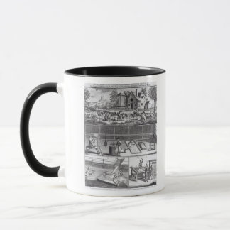 The First Plate of the Woollen Manufacture Mug