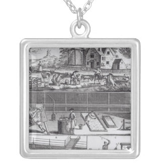 The First Plate of the Woollen Manufacture Pendant