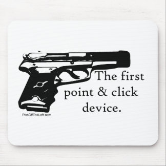 The First Point & Click Device Mouse Pad
