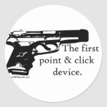 The First Point & Click Device Classic Round Sticker