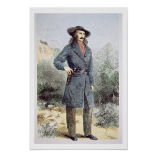 The first published picture of 'Wild Bill' Hickok Poster