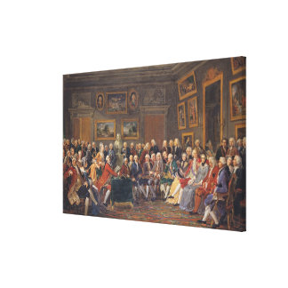 The First Reading at Mme Canvas Print