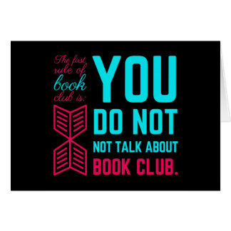 The first rule of book club funny phrase card