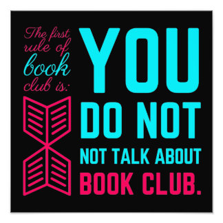 The first rule of book club funny phrase photo print