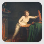 The First Sense of Coquetry, 1804 Square Sticker