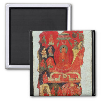 The First Sermon of Buddha 2 Inch Square Magnet