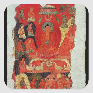 The First Sermon of Buddha Square Sticker