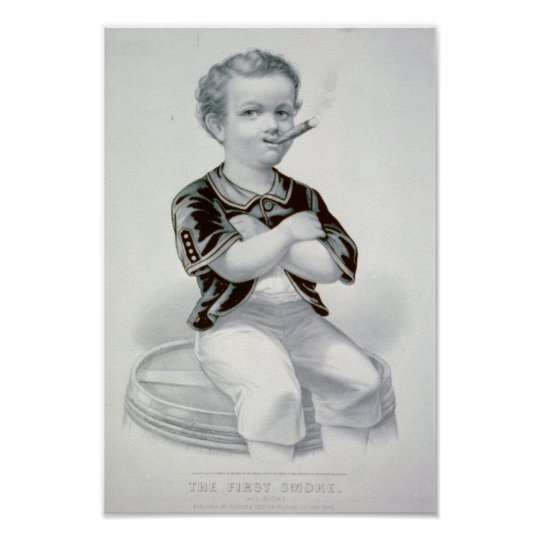 The First Smoke - 1870 Poster