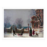 The First Snow Christmas scene Postcards