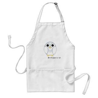 the first snow owl in the kitchen adult apron