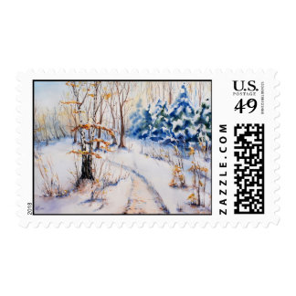 The first snow stamps