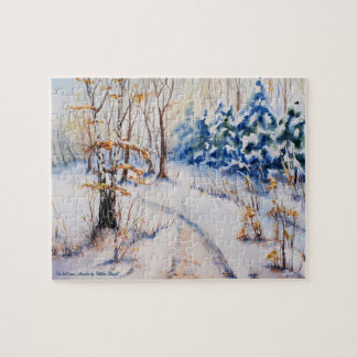 The first snow jigsaw puzzles