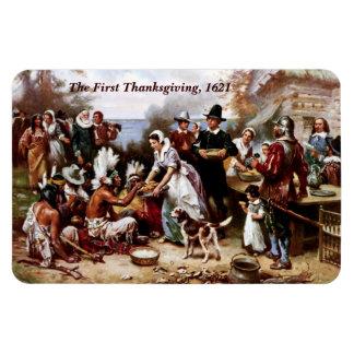 The First Thanksgiving,1621. Fine Art Magnet