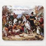 The First Thanksgiving,1621. Fine Art Mousepad