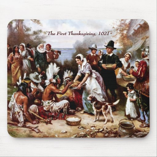 The First Thanksgiving,1621. Fine Art Mousepad | Zazzle