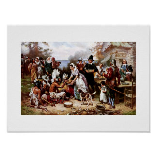 The First Thanksgiving,1621. Fine Art Poster