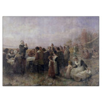 The First Thanksgiving at Plymouth by Brownscombe Cutting Board