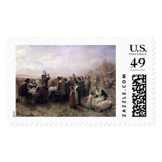 The First Thanksgiving at Plymouth Postage Stamp