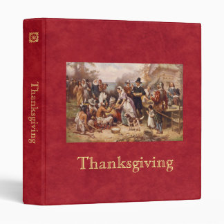 The First Thanksgiving 3 Ring Binder