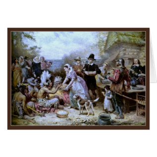 The First Thanksgiving By Ferris-thanksgiving Card at Zazzle