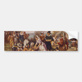 The First Thanksgiving by Jean Leon Gerome Ferris Bumper Sticker