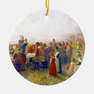 The First Thanksgiving Ceramic Ornament