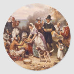 The First Thanksgiving Classic Round Sticker