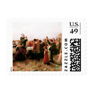 The First Thanksgiving in Plymouth Postage Stamps