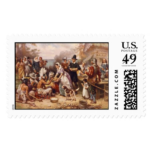 The First Thanksgiving Postage