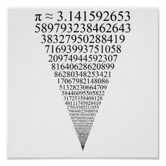 The First Thousand Digits of Pi (looks infinite) Poster