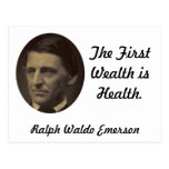 The First Wealth is Health Postcard