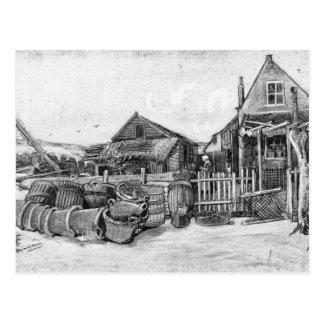 The fish drying barn at Scheveningen, c.1882 Postcard