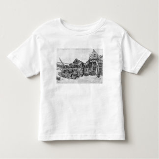 The fish drying barn at Scheveningen, c.1882 Shirt