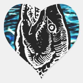 The Fish Heart Sticker
