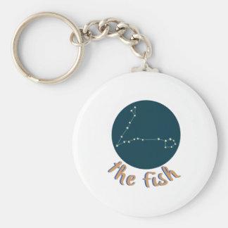 The Fish Basic Round Button Keychain