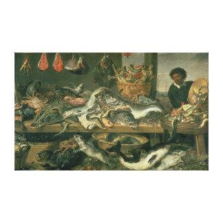 The Fish Market, 1618-21 Canvas Print
