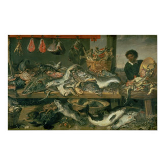 The Fish Market, 1618-21 Poster