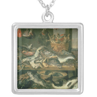The Fish Market, 1618-21 Silver Plated Necklace
