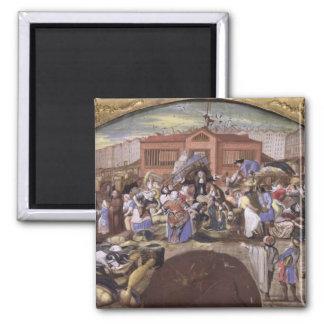 The Fish Market at Les Halles, c.1660 Magnet