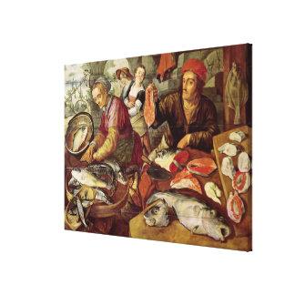 The Fish Market Canvas Print