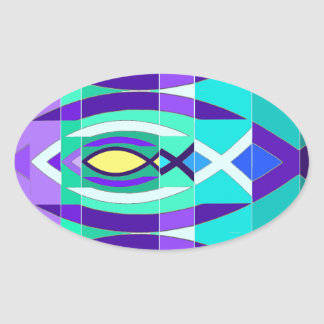 The Fish Oval Sticker