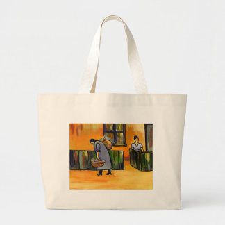 THE FISH SELLER LARGE TOTE BAG