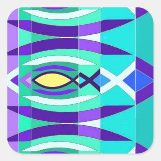 The Fish Square Sticker