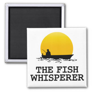 The Fish Whisperer 2 Inch Square Magnet