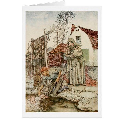The Fisherman and his Wife Greeting Card
