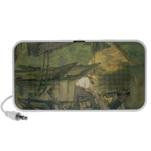 The Fisherman, c.1861 (oil on canvas) iPhone Speaker