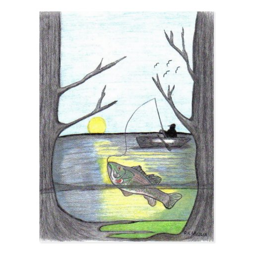 """ The Fisherman "" Postcard"