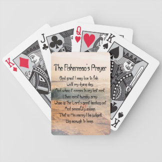 The Fishermans Prayer Bicycle Playing Cards